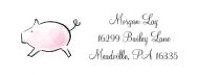 Little Piggie Address Labels