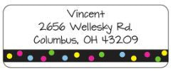Party Dot Address Label