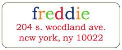 Freddie Address Label