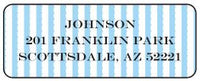 Blue Scallop Stripe Address Label