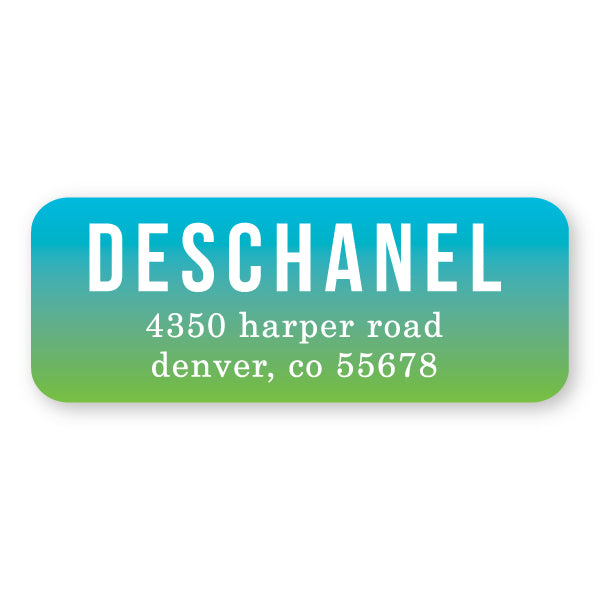 Turquoise/Kelly Address Label