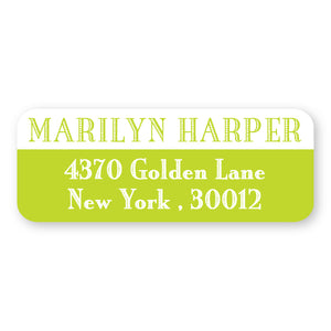 Lime Green Address Label