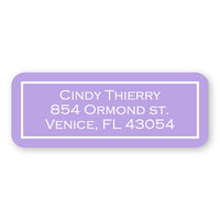 Lavender Address Label
