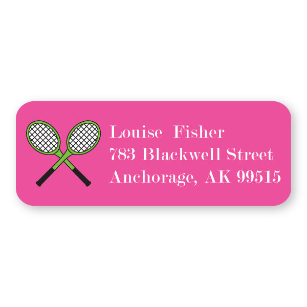 Tennis Icon Address Label
