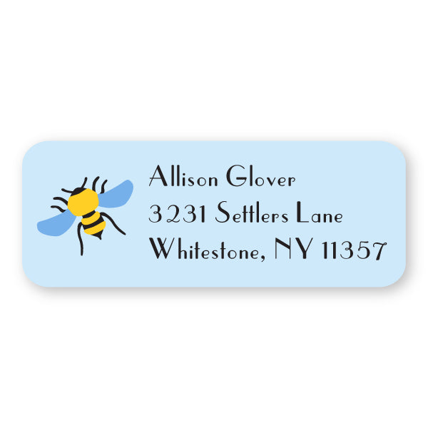Bumble Bee Icon Address Label