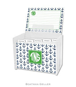 Anchors Navy Recipe Box