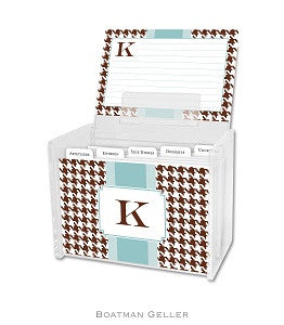 Alex Houndstooth Chocolate Recipe Box