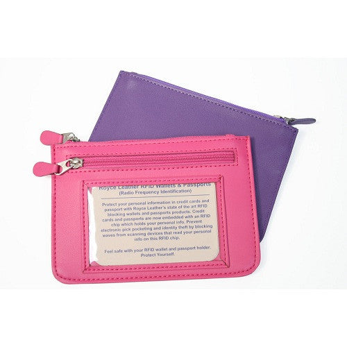 Monogrammed Leather RFID Blocking Neat Pockets