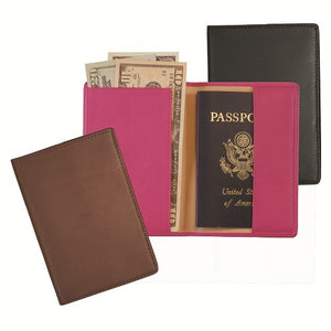 Monogrammed Leather RFID Blocking Passport Jacket