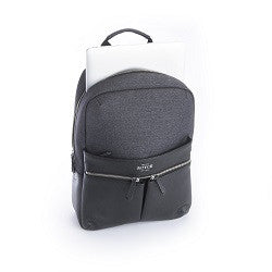 Royce Powered Up Power Bank Charging Leather Laptop Backpack