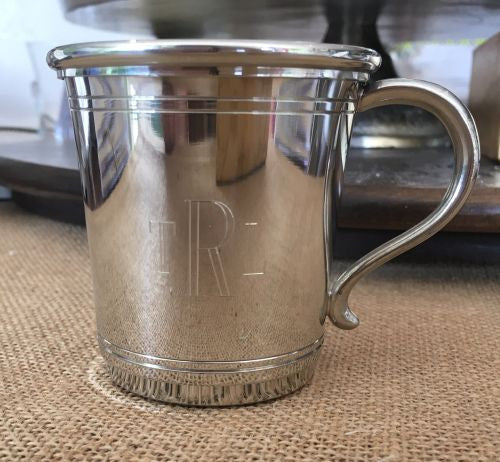 Engraved Pewter Carolina Baby Cup