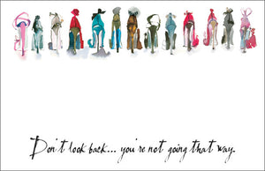 Don't Look Back Shoe Notepad