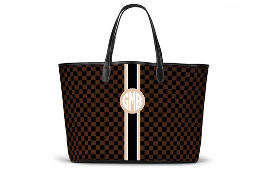 Monogrammed St Anne Diaper Bag - The Chequers Collection