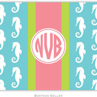 Seahorse Ribbon in Teal Foldover Note