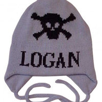 Skull Crossbones Hat with Earflaps