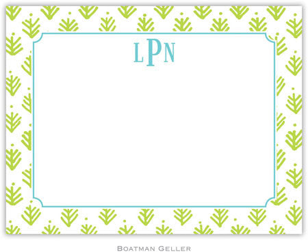 Sprig Lime Flat Notecard