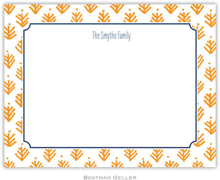 Sprig Orange Flat Notecard
