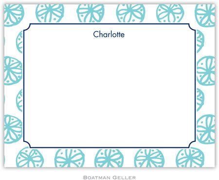 Summer Teal Flat Notecard