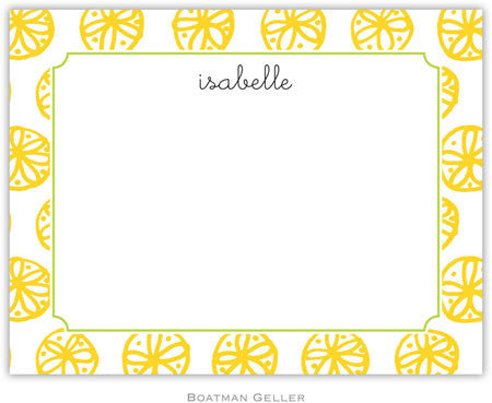Summer Yellow Flat Notecard