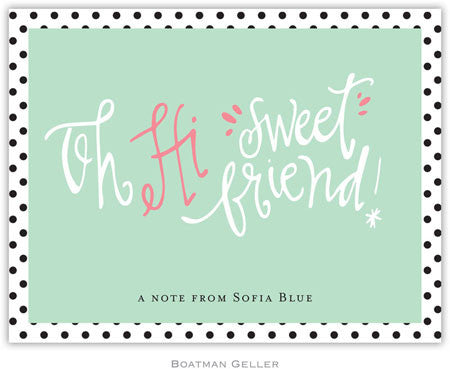 Sweet Friend Foldover Note