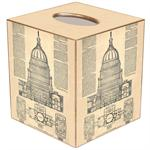 Capital Blueprint Tissue Box Cover