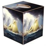 Nautical Sailboat Tissue Box Cover