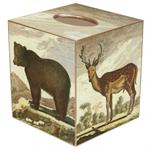 Brown Bear & Deer Tissue Box Cover
