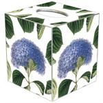Blue Hydrangea with Leaves Tissue Box Covers