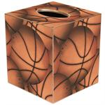 Antique Basketball Tissue Box Cover