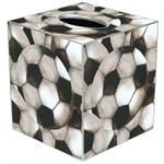 Antique Soccer Tissue Box Cover