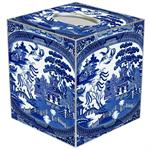 Blue Willow Tissue Box Cover