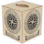 Mariner's Compass Tissue Box Cover