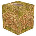 Antique Map of Rome Tissue Box Cover