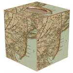 Antique Jersey Shore Map Tissue Box Cover