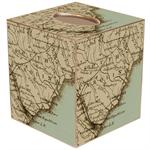 South Carolina Antique Map Tissue Box Cover