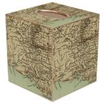 Louisiana Coast Antique Map Tissue Box Cover