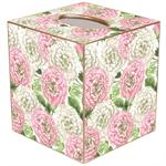 Heirloom Roses Pink & White Tissue Box Covers