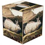 White Rabbit Tissue Box Cover