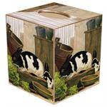 Black & White Bunny Tissue Box Cover