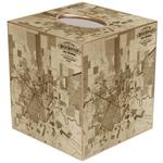 City of Houston Antique Map Tissue Box Cover