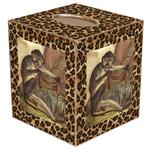 Monkeys with Leopard Print Tissue Box Cover