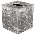 Firenze Map Tissue Box Cover