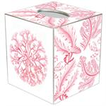 Pink Coral Tissue Box Cover
