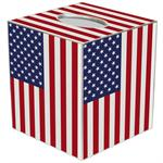 American Flag Tissue Box Cover