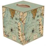 Fort Sumter, South Carolina Antique Map Tissue Box Cover