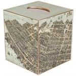 Charleston, South Carolina View from Above Antique Map Tissue Box Cover