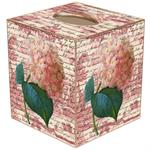 Pink Hydrangea on Rose Tissue Box Cover