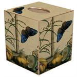 Brown & Blue Butterfly Tissue Box Cover