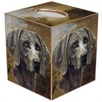Weimaraner Tissue Box Cover