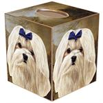Maltese Tissue Box Cover